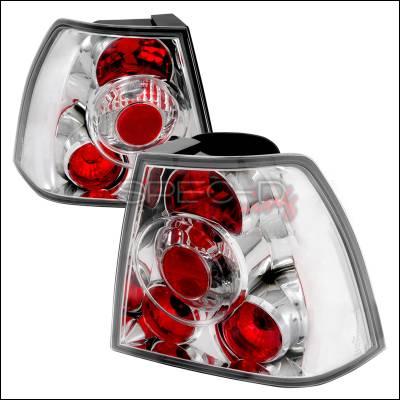 Spec-D - Volkswagen Jetta Spec-D Altezza Taillights - Chrome - LT-JET99-TM