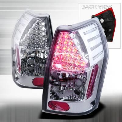 Spec-D - Dodge Magnum Spec-D LED Taillights - Chrome - LT-MAG05CLED-KS