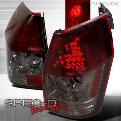 Spec-D - Dodge Magnum Spec-D LED Taillights - Smoke - LT-MAG05GLED-TM