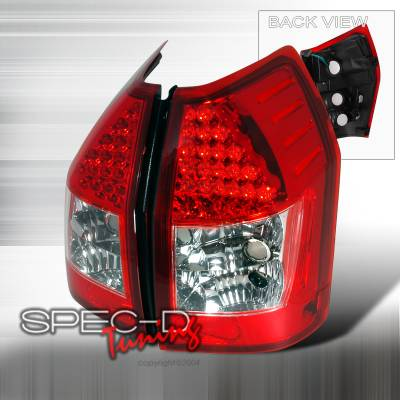 Spec-D - Dodge Magnum Spec-D LED Taillights - Red - LT-MAG05RLED-KS