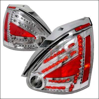 Spec-D - Nissan Maxima Spec-D LED Taillights - Chrome - LT-MAX04CLED-DP