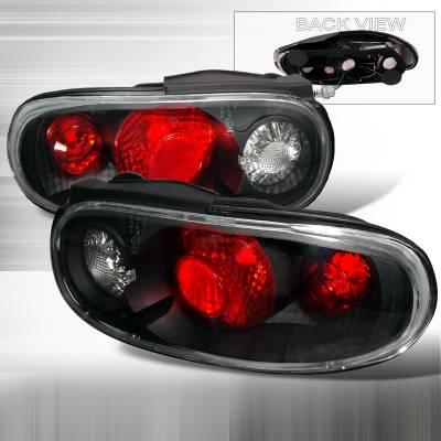 Spec-D - Mazda Miata Spec-D Altezza Taillights - Black - LT-MIA90JM-KS