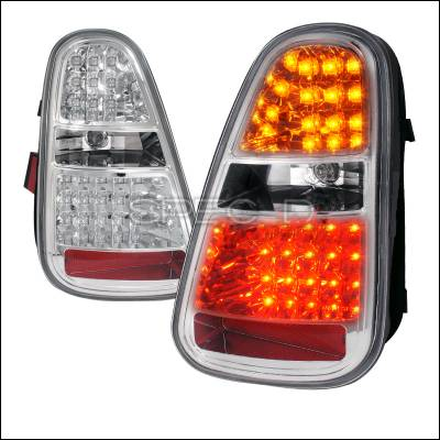 Spec-D - Mini Cooper Spec-D LED Taillights - Chrome Housing - LT-MINI06CLED-TM