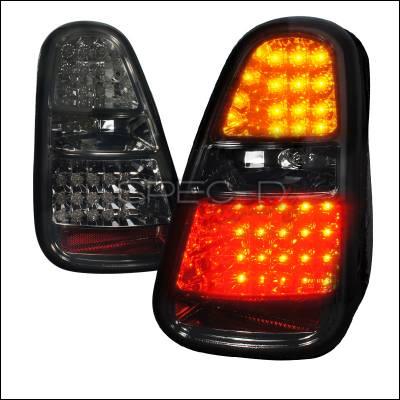 Spec-D - Mini Cooper Spec-D LED Taillights - Smoke Lens - LT-MINI06GLED-TM
