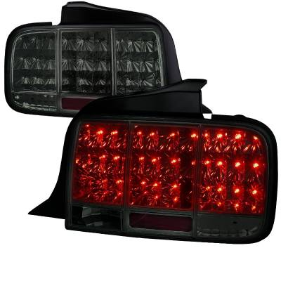 Spec-D - Ford Mustang Spec-D Sequential LED Taillights - Smoke - LT-MST05GLED-SQ-TM
