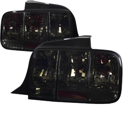 Spec-D - Ford Mustang Spec-D Sequential Taillights - Smoke - LT-MST05G-SQ-TM