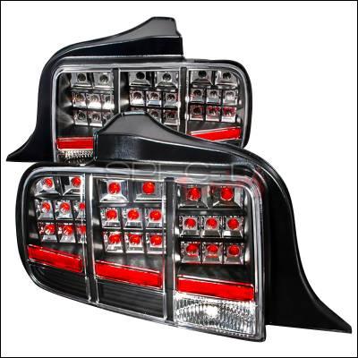 Spec-D - Ford Mustang Spec-D LED Taillights - Black - LT-MST05JMLED-KS