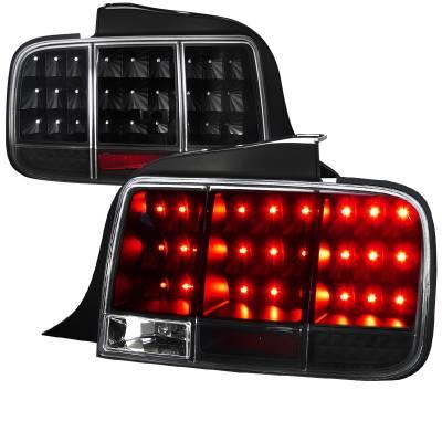 Spec-D - Ford Mustang Spec-D Sequential LED Taillights - Black - LT-MST05JMLED-SQ-TM