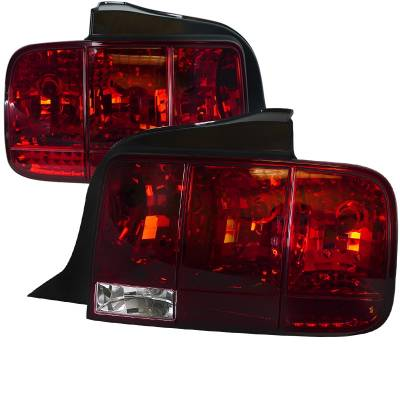 Spec-D - Ford Mustang Spec-D Sequential Taillights - Red - LT-MST05R-SQ-TM