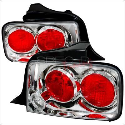 Spec-D - Ford Mustang Spec-D Altezza Taillights - Chrome - LT-MST05-TM