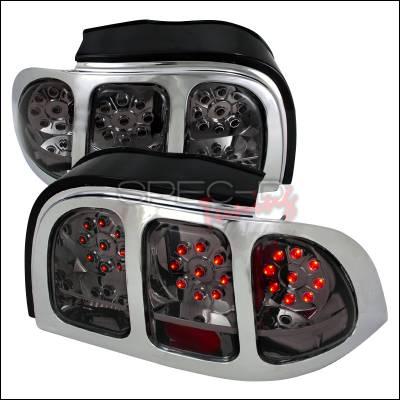 Spec-D - Ford Mustang Spec-D LED Taillights - Smoke - LT-MST94GLED-KS