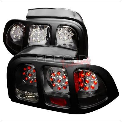 Spec-D - Ford Mustang Spec-D LED Taillights - Black - LT-MST94JMLED-KS