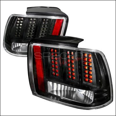 Spec-D - Ford Mustang Spec-D LED Taillights - Chrome - LT-MST99CFLED-DP