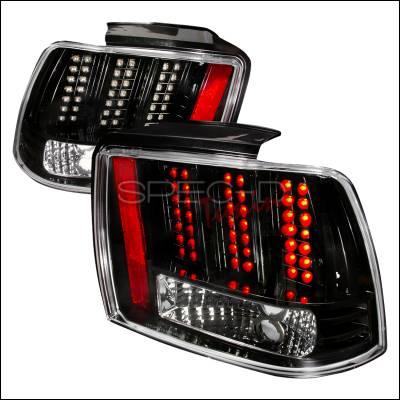 Spec-D - Ford Mustang Spec-D LED Taillights - Black - LT-MST99JMLED-DP