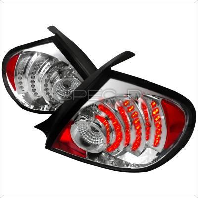 Spec-D - Dodge Neon Spec-D LED Taillights - Chrome - LT-NEO03CLED-DP