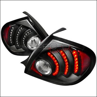 Spec-D - Dodge Neon Spec-D LED Taillights - Black - LT-NEO03JMLED-DP