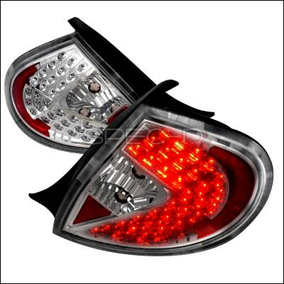 Spec-D - Dodge Neon Spec-D LED Taillights - Chrome with Clear Lens - LT-NEO99CCLED-WJ