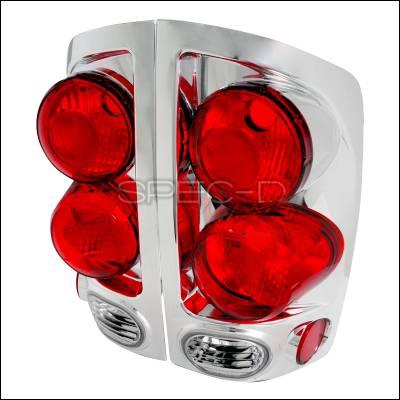 Spec-D - Dodge Ram Spec-D Altezza Taillights - Chrome - LT-RAM023D-TM