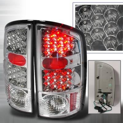 Spec-D - Dodge Ram Spec-D LED Taillights - Chrome - LT-RAM02CLED-KS