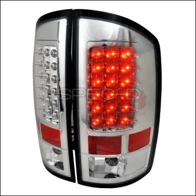 Spec-D - Dodge Ram Spec-D LED Taillights - Chrome - LT-RAM02CLED-TM