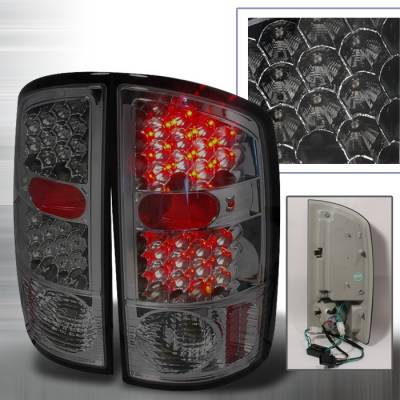 Spec-D - Dodge Ram Spec-D LED Taillights - Smoke - LT-RAM02GLED-KS