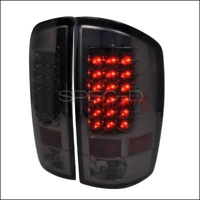 Spec-D - Dodge Ram Spec-D LED Taillights - Smoke - LT-RAM02GLED-TM