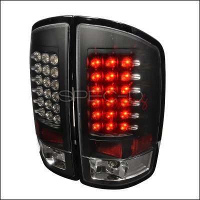 Spec-D - Dodge Ram Spec-D LED Taillights - Black - LT-RAM02JMLED-TM