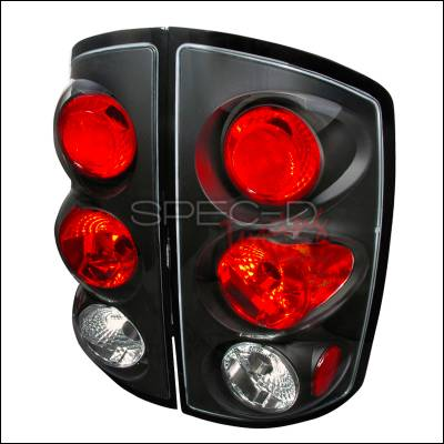 Spec-D - Dodge Ram Spec-D Altezza Taillights - Black - LT-RAM02JM-TM