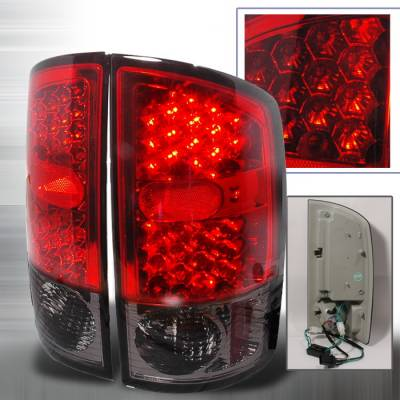 Spec-D - Dodge Ram Spec-D LED Taillights - Red - LT-RAM02RLED-KS