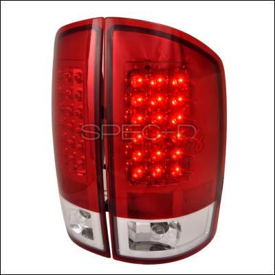 Spec-D - Dodge Ram Spec-D LED Taillights - Red - LT-RAM02RLED-TM