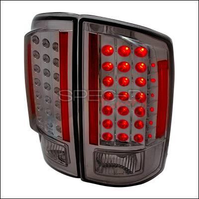 Spec-D - Dodge Ram Spec-D LED Taillights - Smoke - LT-RAM07GLED-KS