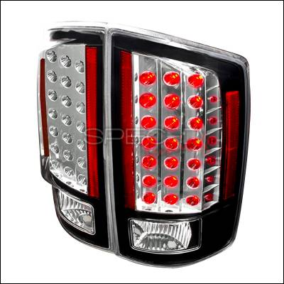 Spec-D - Dodge Ram Spec-D LED Taillights - Black - LT-RAM07JMLED-KS