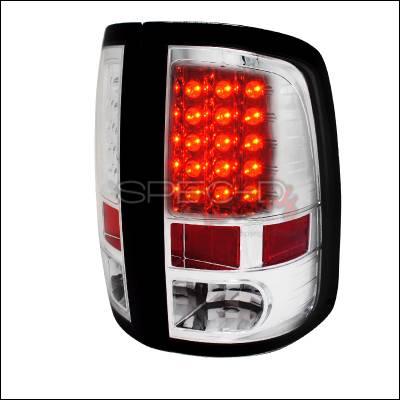 Spec-D - Dodge Ram Spec-D LED Taillights - Chrome Housing - LT-RAM09CLED-TM