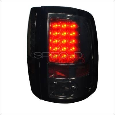 Spec-D - Dodge Ram Spec-D LED Taillights - Smoke Lens - LT-RAM09GLED-TM