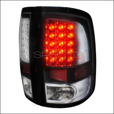 Spec-D - Dodge Ram Spec-D LED Taillights - Black Housing - LT-RAM09JMLED-TM