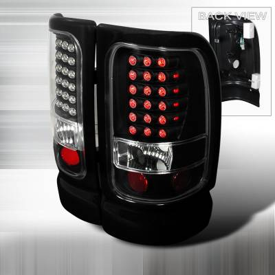Spec-D - Dodge Ram Spec-D LED Taillights - Black - LT-RAM94JMLED-KS