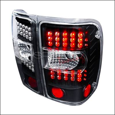 Spec-D - Ford Ranger Spec-D LED Taillights - Chrome - LT-RAN01JMG2LED-KS