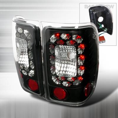 Spec-D - Ford Ranger Spec-D LED Taillights - Black - LT-RAN01JMLED-KS