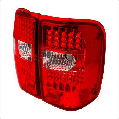 Spec-D - Ford Ranger Spec-D LED Taillights - Chrome - LT-RAN01RG2LED-KS