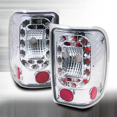 Spec-D - Ford Ranger Spec-D LED Taillights - Red - LT-RAN01RLED-KS