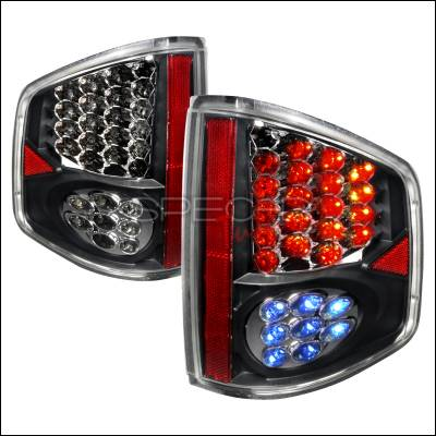 Spec-D - Chevrolet S10 Spec-D LED Taillights - Black - LT-S1094JMLED-WJ