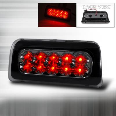 Spec-D - Chevrolet S10 Spec-D LED Third Brake Lights - Smoke - LT-S1098RBGLED-APC