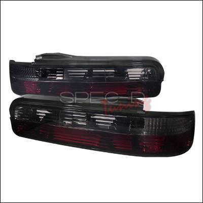 Spec-D - Nissan 240SX Spec-D Taillights - Red & Smoke - LT-S13892RG-TM