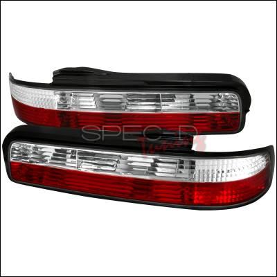 Spec-D - Nissan 240SX Spec-D Altezza Taillights - Red & Clear - LT-S13892RPW-TM