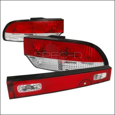 Spec-D - Nissan 240SX Spec-D Altezza Taillights - Chrome - LT-S1389RPW3-TM
