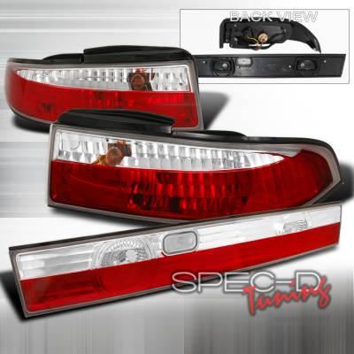 Spec-D - Nissan 240SX Spec-D Altezza Taillights - Chrome - LT-S1495RPW3-TM