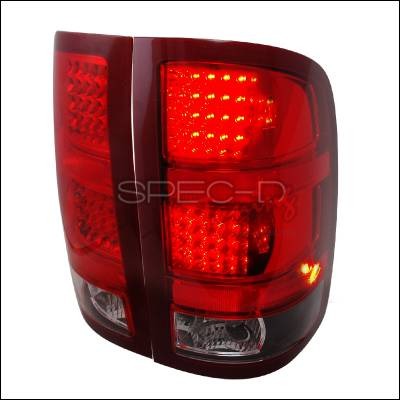 Spec-D - GMC Sierra Spec-D LED Taillights - Black - LT-SIE07JMLED-KS