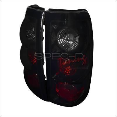 Spec-D - Chevrolet Silverado Spec-D Euro Taillights - Glossy - Black Housing with Smoke Lens - LT-SIV03BB-TM