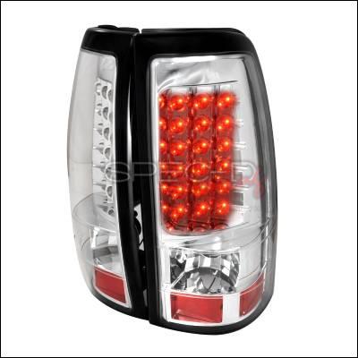 Spec-D - Chevrolet Silverado Spec-D LED Taillights - Chrome - LT-SIV03CLED-TM
