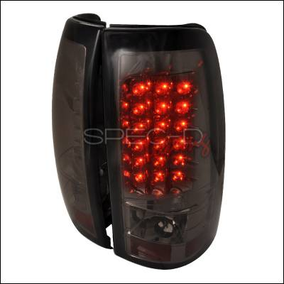 Spec-D - Chevrolet Silverado Spec-D LED Taillights - Smoke - LT-SIV03GLED-TM